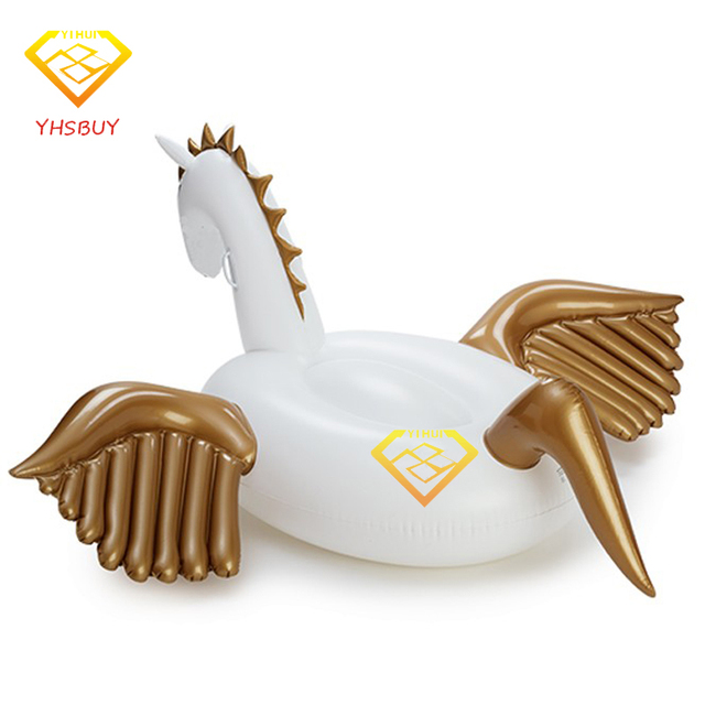Inflatable Pool Toy Summer Holiday 2.5*2.5*1.3M Inflatable Pegasus With Handle Water Floats Unicorn Water Rafts Air Mattress