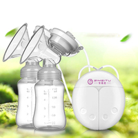 Single/Double Electric Breast Pump With Milk Bottle Infant USB Nipple Powerful Suction Breast Pumps Baby Breast Feeding