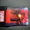 2016 Chegada Nova Completa PU Bolsa Deadpool Marvel Spiderman Caricatura Punisher Curto Carteiras Com Suporte de Cartão Livre Preço do Dólar