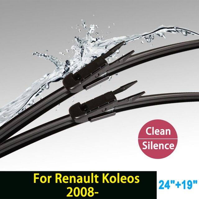 """Limpiaparabrisas cuchillas para Renault Koleos (desde 2008 en adelante) 24 """"+ 19"""" ajuste pizca tipo tab limpiaparabrisas armas sólo HY-017"""