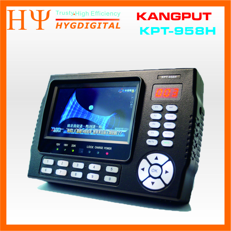 [Genuine]Kangput KPT-958H 4.3 inch DVB-S/S2 TV Receiver sat finder Portable Multifunctional HD Satellite Finder Monitor MPGE4