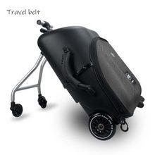 Cinturón de viaje multifunción para niños, alta calidad, coche infantil, puede riden, Rodante, equipaje, bolsas de viaje, ruedas de maleta de marca