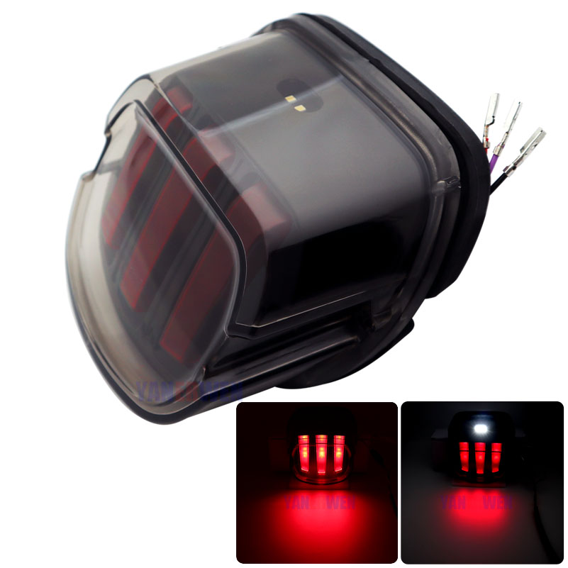Bike Motorcycle Lights Rear Fender Edge Red LED Brake Tail light For Motocycle  Touring Sportster Eagle Claw Tail Light