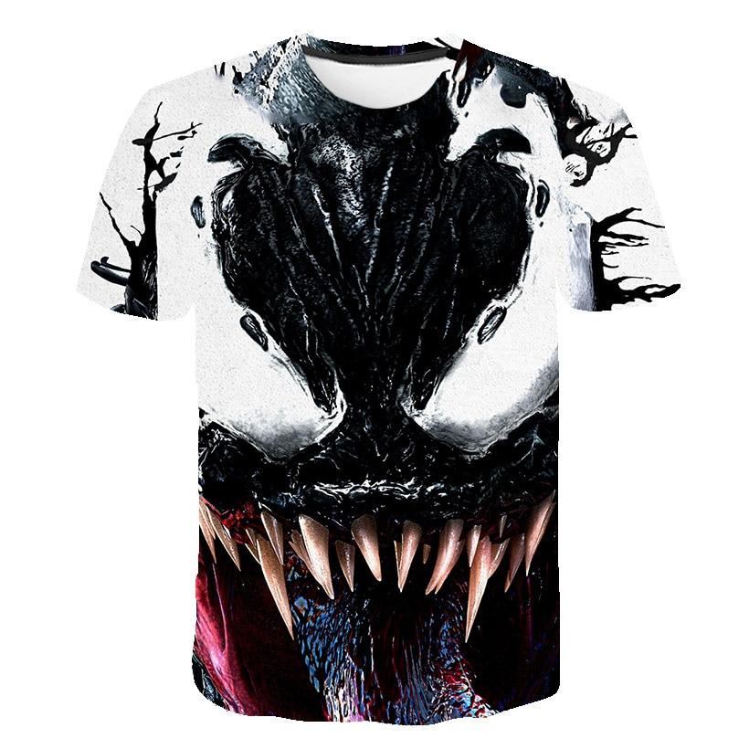 New Spider-man Venom 3D   t  -  shirt   Spider Man Skull Men   T     shirt   Reflect Light Summer 3D Printing Tees Fashion Short Sleeve Tshirt