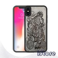 Super Shockproof Soft border 3D carved wood for iPhone 7 8 Plus 6Plus 7Plus 8Plus X S MAX Silicone Luxury Cell Phone Back