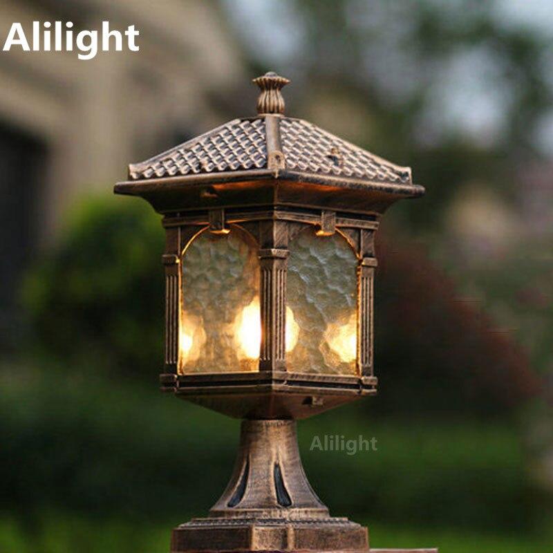 Online get cheap stone garden pillars for Landscape pillar lighting