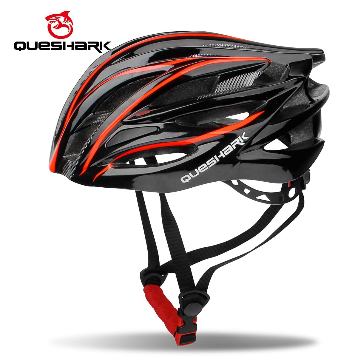 QUESHARK Men Women Air Vents Bicycle Helmet Ultralight Riding Cycling Helmets Mountain Road Bike Helmets For Head Safety