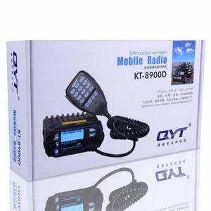 Image 5 - QYT KT 8900D רדיו משדר 136 ~ 174/400 ~ 480MHz רכב נייד משדר quad להקת תצוגת משדר 25W + אנטנה