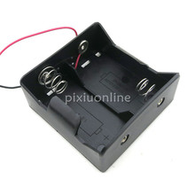 J083b Contain 2 #D Battery Black Plastic Battery Box Large Size DIY Parts Sell at a Loss France USA Europe Canada(China)