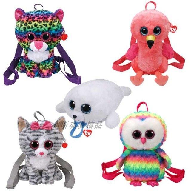 25 cm vaias TY beanie Dos Desenhos Animados Do Bebê sacos de Brinquedos de pelúcia Recheado De Mini animais olhos grandes De Pelúcia dinheiro carteira Mochila crianças meninas da escola