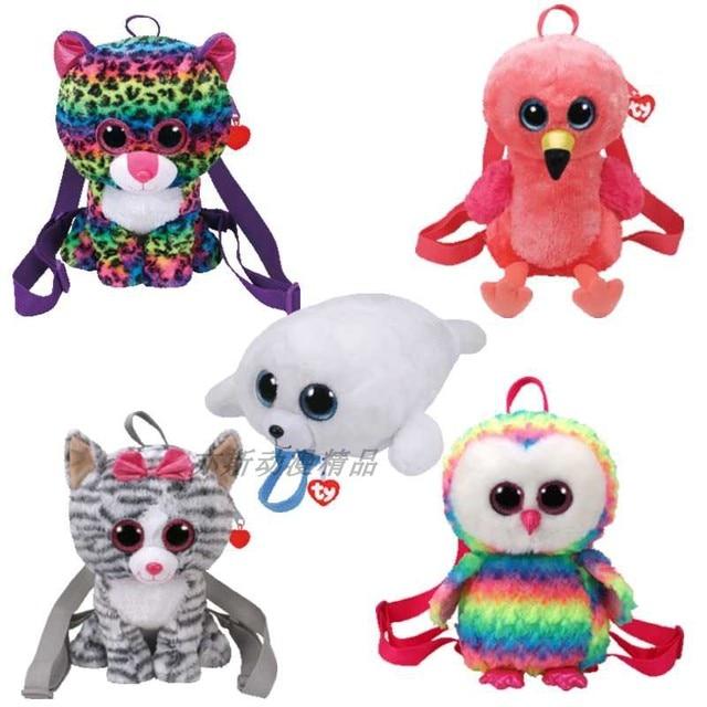 25cm Cartoon Baby TY beanie boos plush Toys bags Stuffed animal Mini big eyes  Plush money wallet Backpack kids girls school
