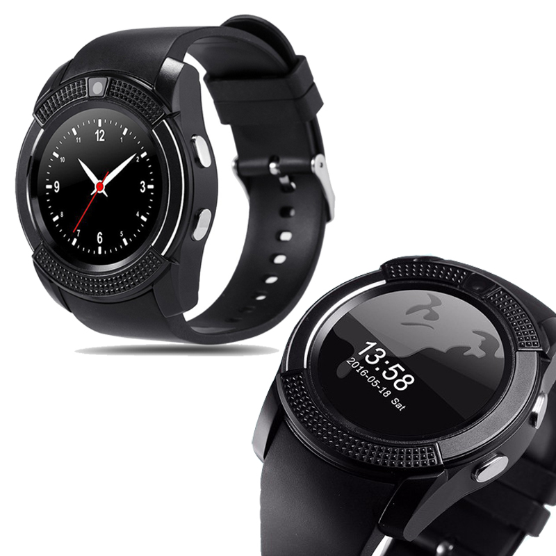 V8 Smart Watch Clock with Sim TF Card Slot Bluetooth Suitable for Apple IPhone Android Phone