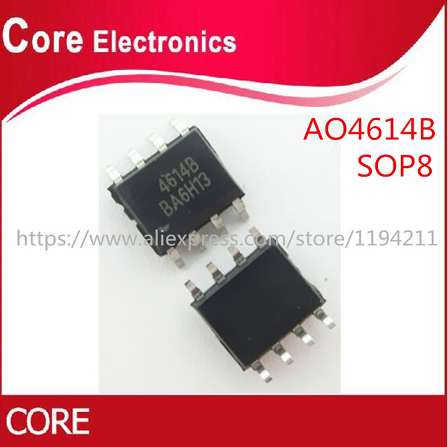 50ピース/ロットAO4614B AO4614 4614 SOP8 ic最高品質