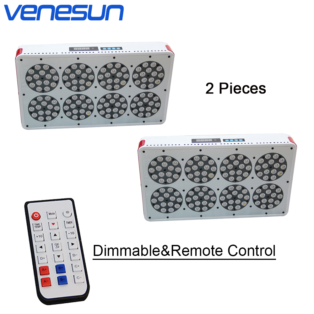 Full Spectrum LED Grow Light Venesun Apollo 8 Dimmable Remote Control Grow Lamp For Indoor Plant Hydroponic Greenhouse. 2 Pieces