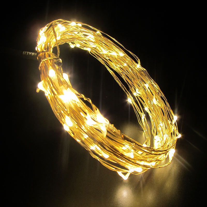 USB LED String Light 10M 100LEDs ruban fil chaîne Fée Light Party - Éclairage festif - Photo 4