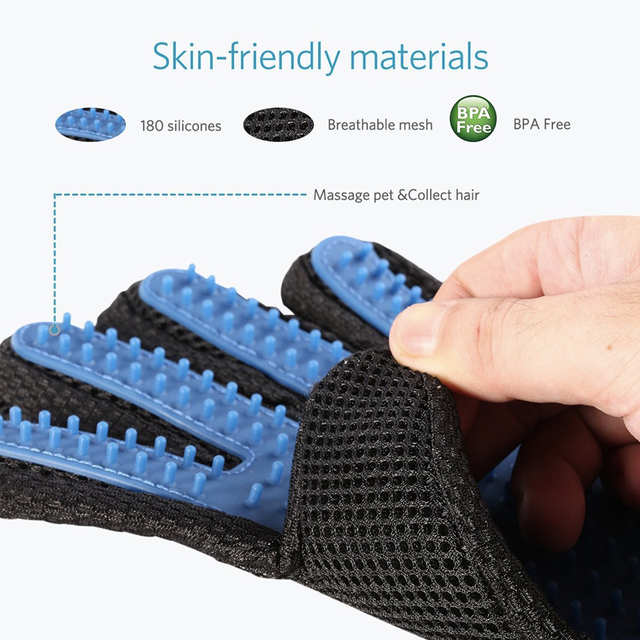 Pet Hair Glove Comb Dog Cat Grooming  Glove Cleaning Deshedding Left Right Hand Hair Removal Brush Promote Blood Circulation 3
