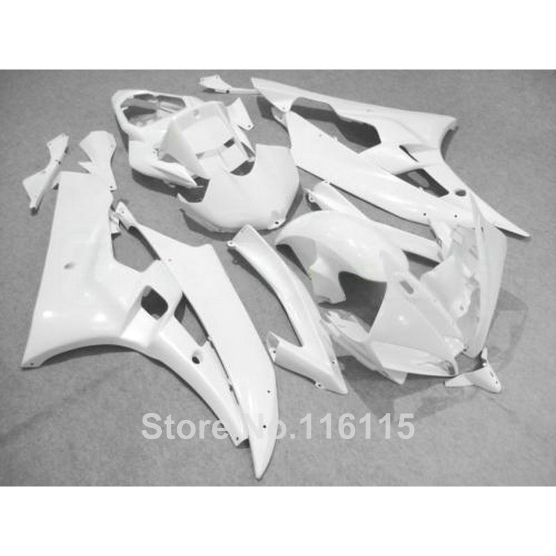 Body kits Fit for YAMAHA YZF R6 2006 2007 all white  ABS fairings set YZF-R6 06 07 fairing kit Injection molding HY44