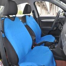 АВТОКОРОНА Автомобильные чехлы майки на передние сиденья 2 шт универсальный размер 4 цветов черный красный синий серый Ткань — велюр