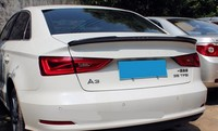 Carbon Fiber Spoiler For Audi A3 S3 2014 2015 2016 2017 High Quality Wing Spoilers Auto Accessories