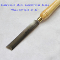 Wood Lathe Turning HSS Woodturning Tools Oval Beveled Knife Tools For Carving Wood Carving Chisel A2014