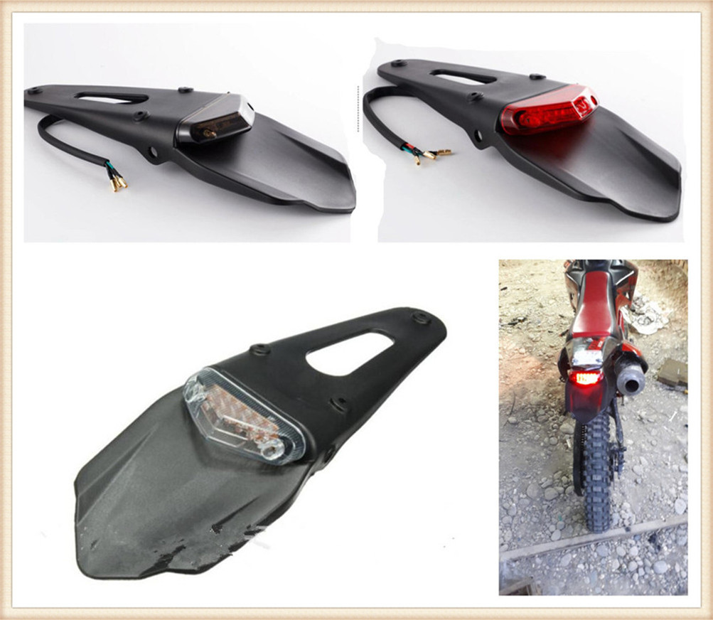 Off-road Beach Motorcycle Modified Fender Accessories LED Tail Light For HONDA XR230 MOTARD XR250 MOTARD CRM250R AR