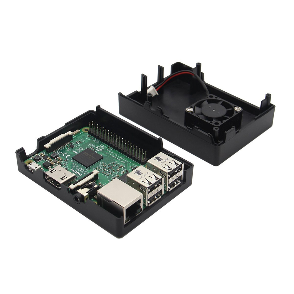 Image 5 - Protective Housing Case Cover Enclosure Box with Fan for Raspberry Pi 2/3/3B+-in Demo Board from Computer & Office