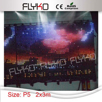 2016 New products Favorable backdrop for wedding dj led stage curtain