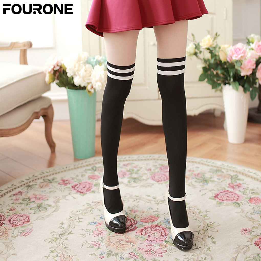 Women Girl Velvet Warm Thigh High Over Knees Long Stocking Tights ...