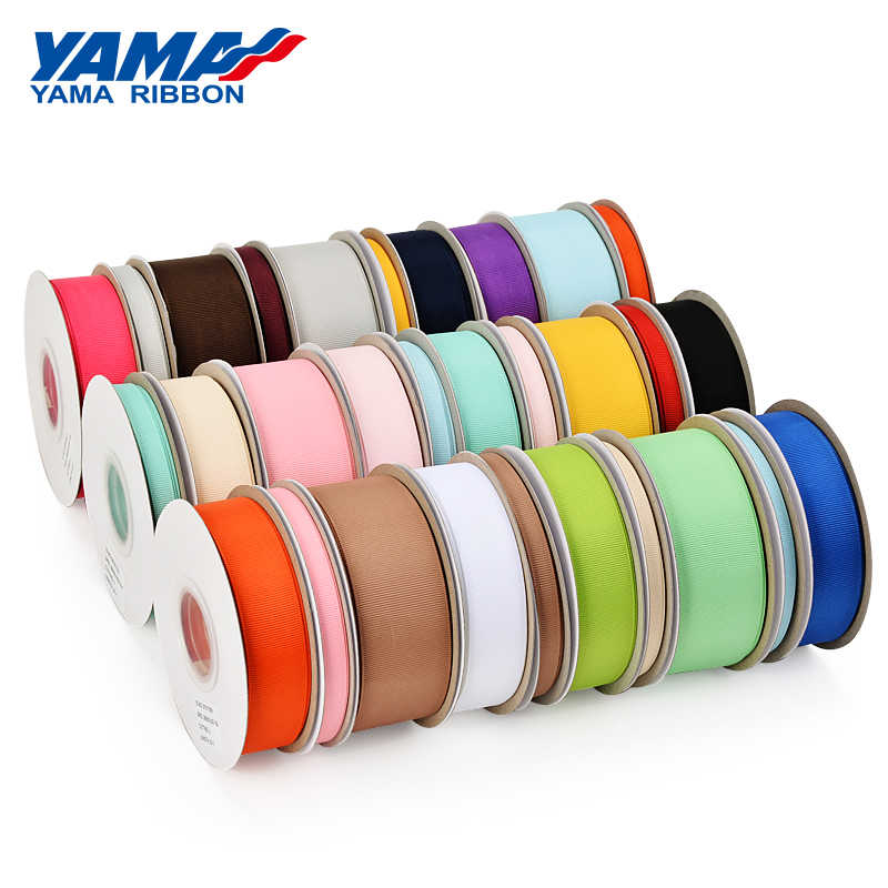 "Yama Pita Grosiran 6 9 13 16 25 38 Mm 25 Yard/Roll 1/4 ""3/8"" 1/2"" 5/8 ""1"" 1.5 ""Inch Kerajinan Packing Pernikahan Handmade Pita"