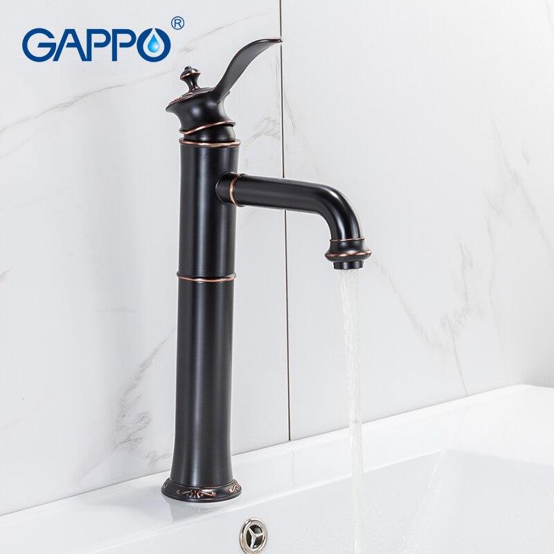 GAPPO Basin Faucets black tall waterfall bathroom faucet water taps waterfall basin sink faucet taps armatur смеситель gappo g2245