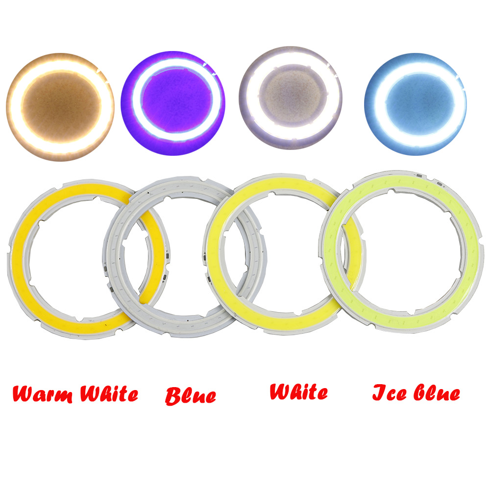 Lights & Lighting Light Bulbs Purposeful 2pcs Car-styling Dc 12v Auto Halo Rings Angel Eye Cob Headlight 60mm Drl Led Angel Eyes Motorcycle Car Accessories Decor Bulb To Assure Years Of Trouble-Free Service