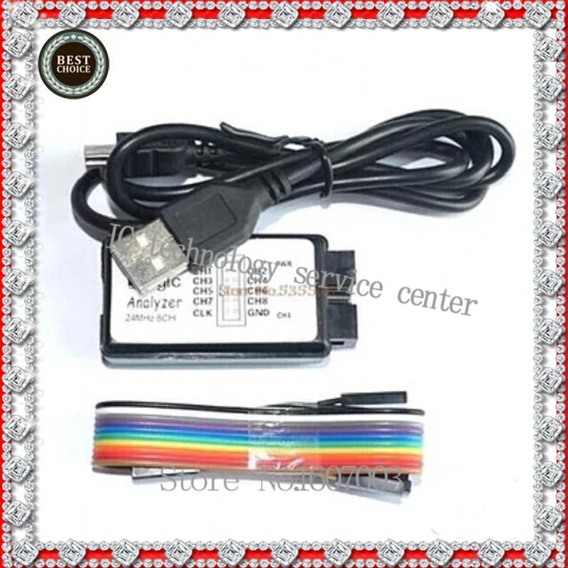 USB  Logic Analyzer Microcontroller ARM FPGA debugging tool 8 channel sampling 24M logic16 logic analyzer 100m arm fpga decoder tool r