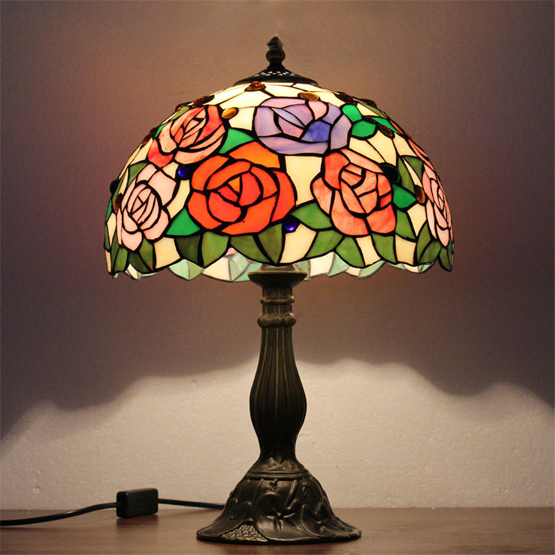 Fumat Stained Gl Table Lamps Modern Led Art Lamp European Style Minimalist Living Room Bed Bedside In From Lights
