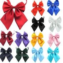 Women Cravat Butterfly Womens Bow Tie Girl Student Hotel Clerk Waitress Neck Wear Silk Ties