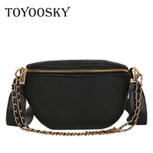 TOYOOSKY Multi-use Women Leather Belt Bag Quilted Plaid Phone Pouch Fanny Pack Luxury Brand Female Waist Chest Crossbody
