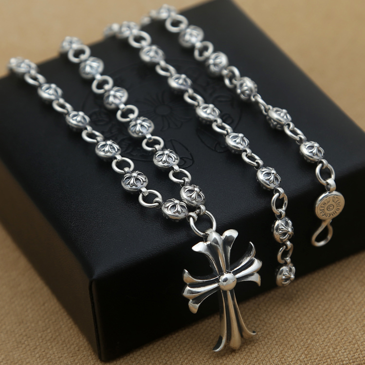Necklace Handcrafted Thailand Sterling Silver Necklace Cross Pendant Man Necklace Pendant Cross Jewelry