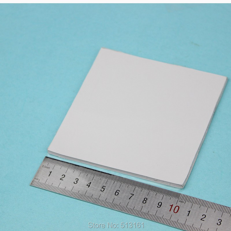 1 pcs 100 x 100 x 2 5mm CPU GPU IC SMD White Conductive Heatsink Silicone 2 5mm in Fans Cooling from Computer Office