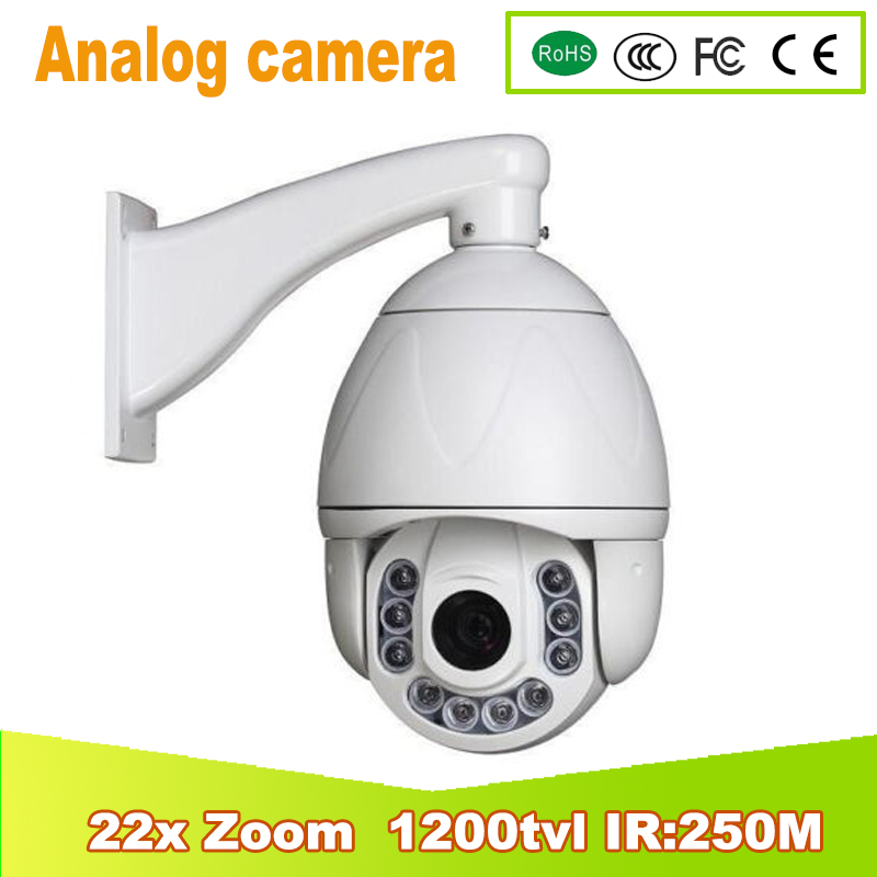 YUNSYE 2017 NEW Arrays 2500m IR Distance 1/3SONY CCD 22X Zoom Outdoor IR High speed dome 1200TVL Analog PTZ Camera 4 in 1 ir high speed dome camera ahd tvi cvi cvbs 1080p output ir night vision 150m ptz dome camera with wiper