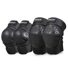 Short Motorcycle Knee Pads Guards Sport Rodilleras Joelheira Motocross Motocicleta Protection Roller Skating Knee Protector 4Pcs