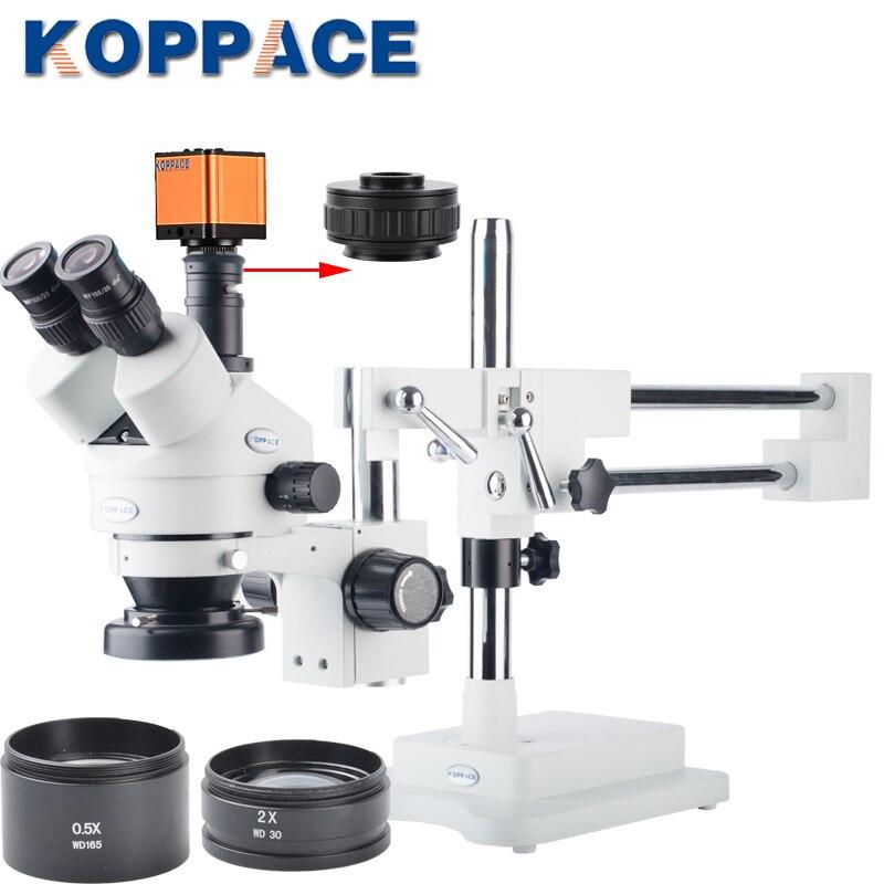 16MP Full HD 1080 P 60FPS HDMI L'industrie Électronique Numérique Microscope Caméra Mobile téléphone réparation 3.5X-90X Stéréoscopique Microscope