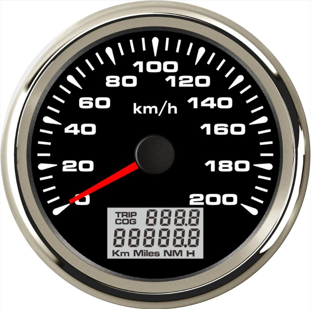 1pc New Style 85mm GPS Speedometers 0-200km/h Waterproof GPS Speed Odometer Gauges Trip Meters 9-33vdc for Car Truck Motorcycle 1pc brand new auto tuning gauges 85mm gps speedometers 0 200km h lcd speed indicators with red backlight and antenna for sale