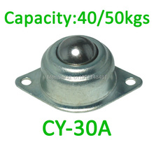 """CY-30A 50kgs capacidade de carga maverick olho Chapeamento Do Zinco de Aço unidade de transferência de Bola, 1 3/16 """"CY30A rodízio bola transportador rolamento"""