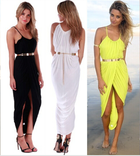 Asymmetrical maxi dresses