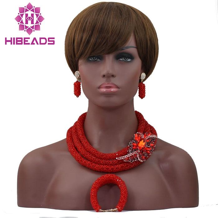 Здесь можно купить  Charming African Gold Jewelry Set New Nigerian Wedding Necklace Best Design Wholesale NCD081  Ювелирные изделия и часы