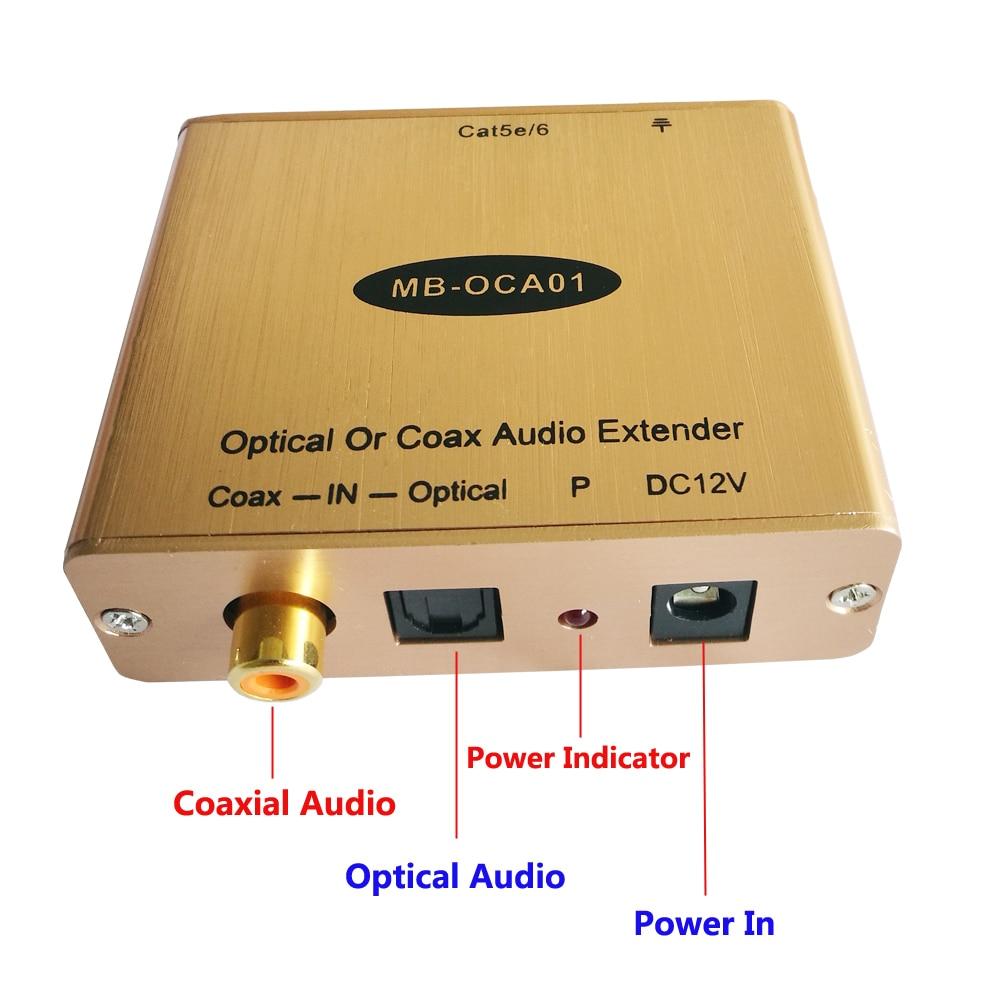 Digital Optical Audio to Cat5 Toslink Audio to Cat5 Fiber Optic Audio to Cat5e Converter Up to 500ft optical fiber optic toslink male to male audio cable black 150cm
