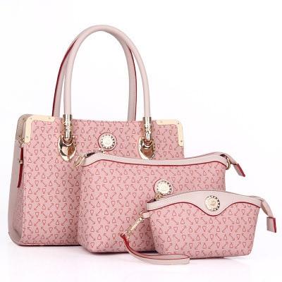 2016 new Women Handbags 3 Sets PU Leather Handbag Women Messenger Bags Ladies Tote Bag Handbag+Shoulder Bag+Purse zs638 nyx professional makeup гель помада plush gel lipstick dime piece 08