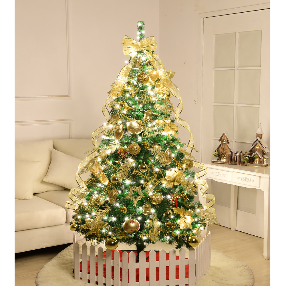 1 2m Christmas Tree Party Decoration Decorative English Golden Decoration Christmas Ball