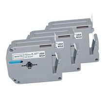100 шт черная и белая 12 мм Совместимость M лента картридж для печати этикеток 8 м M-K231 MK231 M231 м K231 для p touch PT65