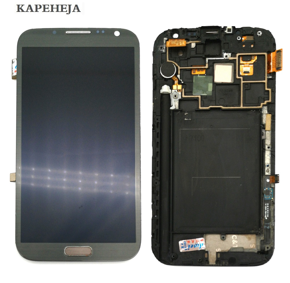 Super AMOLED LCD Display For Samsung Galaxy Note 2 N7100 LCD Display Touch Screen Digitizer Assembly
