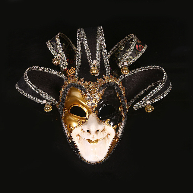 venice mask jester jolly costume party masquerade venetian carnival dionysia halloween christmas classic italia mask full - Christmas Classic